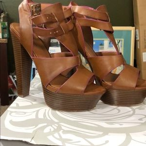 Shoes - Cognac heels -Shi- by journeys